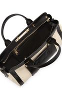 Chloé Alice Colorblock Medium Satchel Bag Husky Whiteblack - Lyst