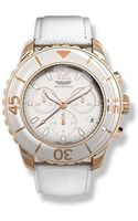 Skywatch Chronograph White Rose Gold 44mm Watch - Lyst