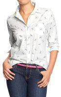 Old Navy Poplin Shirts - Lyst