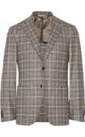 Canali Kei Unstructured Checked Wool Blazer - Lyst