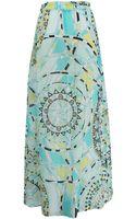 Emilio Pucci Front Slit Maxi Skirt - Lyst
