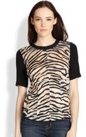 Rebecca Taylor Mixedprint Mixedmedia Top - Lyst