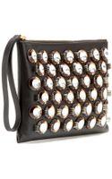 Marni Embellished Leather Clutch - Lyst