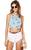 Nasty Gal Somedays Lovin Faint Hearted Crop Top - Lyst