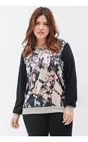Forever 21 Sateen Abstract-print Blouse - Lyst