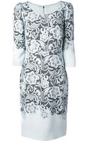 Dolce & Gabbana Floral Lace Print Dress - Lyst