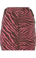 M Missoni Zebrapatterned Stretchcotton Skirt - Lyst