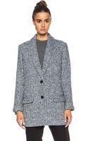 Pam & Gela Wool Check Coat - Lyst