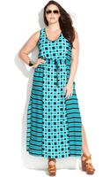 Michael Kors Michael Plus Size Sleeveless Printed Maxi Dress - Lyst