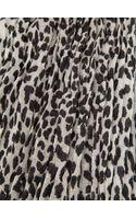 Saint Laurent Leopard Print Scarf - Lyst