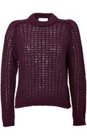 3.1 Phillip Lim Wool Blend Textured Knit Pullover - Lyst