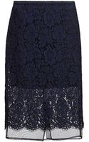 MSGM Corded Lace Pencil Skirt - Lyst