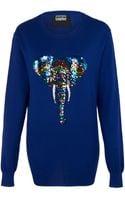 Markus Lupfer Rainbow Sequin Zebra Joey Sweater - Lyst