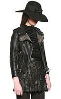 Saint Laurent Nappa Leather Studded Moto Jacket - Lyst