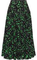 Preen Line Alba Flocked Crepe De Chine Midi Skirt - Lyst