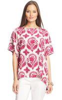 Diane Von Furstenberg New Hanky Tunic Silk Top - Lyst