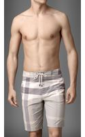 Burberry Check Swim Shorts - Lyst