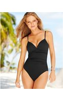 Anne Cole Ruched Onepiece Swimsuit - Lyst