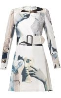Carven Dada-print Habotai-silk Dress - Lyst
