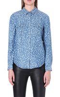 The Kooples Micro Acid Leopard Print Shirt - Lyst