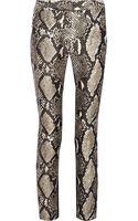 Diane Von Furstenberg Mary Printed Wool and Silk-blend Straight-leg Pants - Lyst