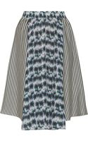 Suno Printed Silk Skirt - Lyst