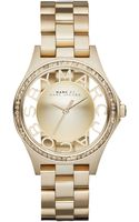 Marc By Marc Jacobs Womens Henry Skeleton Gold-tone Stainless Steel Bracelet Watch 34mm - Lyst