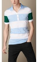 Burberry Contrast Stripe Polo Shirt - Lyst