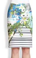 Clover Canyon Printed Neoprene Pencil Skirt - Lyst