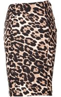 Steffen Schraut Animal Print Pencil Skirt - Lyst