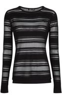 Mango Transparent Striped Sweater - Lyst