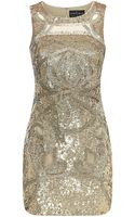 Needle & Thread Ornate Sequin Sleeveless Dress - Lyst