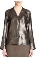 Marc Jacobs Silk Houndstooth Lamã Pajama Shirt - Lyst