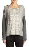 DKNY Patterned Hooded Sweater - Lyst
