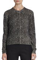 Dolce & Gabbana Cashmere Tweed Cardigan Sweater - Lyst