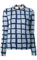 Kenzo Grid-print Roll-neck Sweater - Lyst