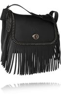 Coach Dakota Fringed Texturedleather Shoulder Bag - Lyst