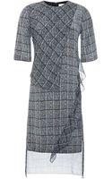 Prabal Gurung Tweed Print Tunic Dress with Asymmetric Ruffle Seam - Lyst
