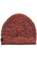 Diesel Gilo Red Marl Stitched Beany - Lyst