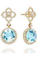 Kiki Blue Topaz Aurora Drop Earrings - Lyst