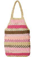 Hat Attack Pink Crochet Fishnet Bag - Lyst