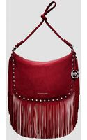 Michael by Michael Kors Crossbody Billy Large Messenger Suede - Lyst