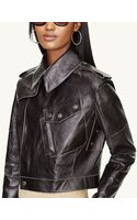 Ralph Lauren Black Label Leather Military Jacket - Lyst