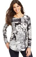 Karen Kane Long-sleeve Printed Top - Lyst