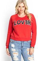 Forever 21 Lover Sweatshirt - Lyst