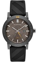 Burberry Charcoal Black Watch with Rubber Strap - Lyst