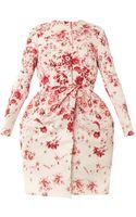Giambattista Valli Couture Wedgewoodprint Silkfaille Evening Coat - Lyst