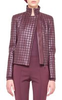 Akris Box Stitched Leather Zip Jacket - Lyst