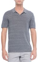 Theory Heath Nbe Polo in Emission Navy Multi - Lyst