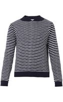 Marni Striped Splitneck Wool Sweater - Lyst